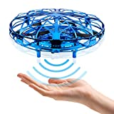 CANOPUS Blau, Handbetriebene drohne, Drinnen und Draußen Fliegender Ball für Kinder und Erwachsene mit...