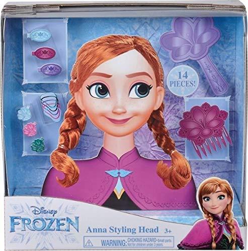 Smoby 7600320312 Frozen Anna Frisierkopf, Frisierpuppe, Styling-Kopf, für...