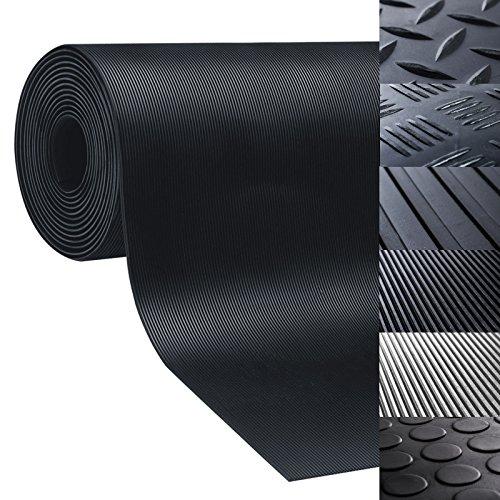 3 breiten Nopenmatte Gummimatte Schutzmatte Noppenmatte Bodenmatte mit Noppen Gummil/äufer 3mm stark 100 x 300 cm