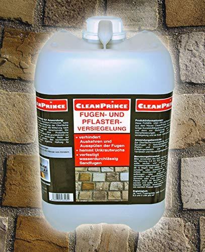 CleanPrince 10 Liter Fugen- und Pflasterversiegelung Fugen-Festiger Sandfugen Splitt auskehren Fugenfestiger Fugendicht Fugenverschluss Fugen...