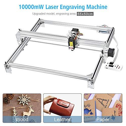 TOPQSC Laserengraver-Graviermaschine, CNC-Fräser-Holzschnitzerei-Gravier-Schneidemaschine, DIY-Drucker-Logo-Bild-Markierung, 2-Achsen-Tischdrucker...
