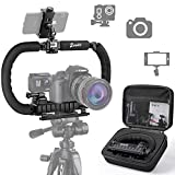 Zeadio Stabilizer for Camera Cell Phone GoPro, Foldable Handle Video Rig Steadycam Stabilizer for all ...