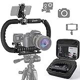 Zeadio Stabilisator für Kamera Handy GoPro, Faltbare Handgriff Video Rig...