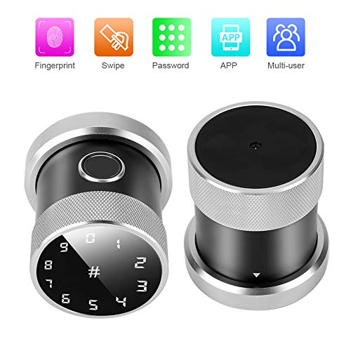 Fingerprint Türschloss, Smart Keyless Card Passwort Wireless APP Sphere Security System für das Home Office