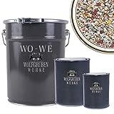 WO-WE Steinteppich SET 25kg Marmorkies + 1,5kg Epoxidharz Bindemittel + Mischeimer | Bunt 1-4mm