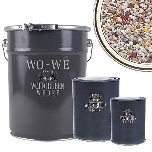 WO-WE Steinteppich SET 25kg Marmorkies + 1,5kg Epoxidharz Bindemittel +...