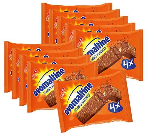 10er SET Ovomaltine Schoko Klassiker 4er Pack (4 x 20 g) / Schokoladen Riegel