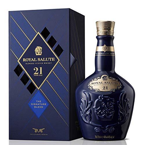 Chivas Royal Salute Blended Scotch Whisky 21 Year Old mit Geschenkverpackung – 21 Jahre gereifte Premium-Whisky Komposition aus Malt & Grain Whiskys...