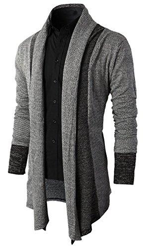 Brinny Men Cardigan Open Jacket Long Cardigan Knit Coat Knitted Jacket Hoodie Hoody Sweatshirt ...