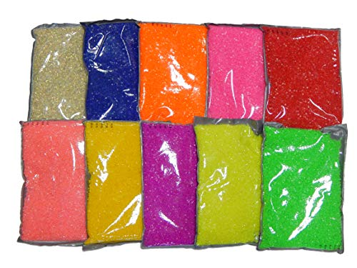 Perlin - Hotfix Steine Set 3mm 10 Farben Resin zum aufbügeln, 5000stk, Epoxy Neon Farben Mix, SS10, AAA Qualität, Hotglue, Glitzersteine Perlen,...