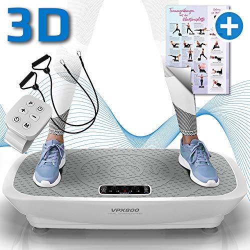 Kinetic Sports 3D Vibrationsplatte VPX800 VITAL Trainer PRO +2 leistungsstarke Motoren +Intuitiv +Leicht zu Bedienen +Fernbedienung +Trainingsposter...