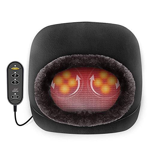 Snailax Elektrisch Shiatsu Fußmassagegerät mit Wärmefunktion, 2-in-1 Kneading...