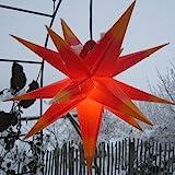 Außenstern mit LED 65 cm rot/gelb beleuchteter Stern...