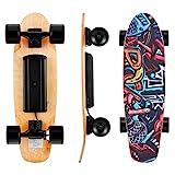 WOOKRAYS Elektrisches Skateboard mit Funkfernbedienung...
