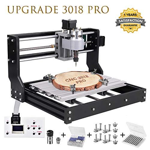 Upgrade CNC 3018 Pro Fräsmaschine Laser Graviermaschine,Vogvigo Holz Router Kit GRBL Steuerung DIY Mini CNC Maschine 3D Graviermaschine, 3 Achsen...