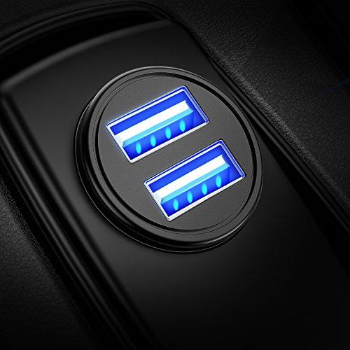 DIVI Zigarettenanzünder USB Ladegerät, 4.8A Metall Mini Kfz Ladegerät 2-Port...