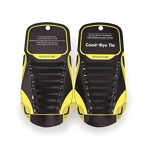 MAROL Elastische Silikon Schnürsenkel – Ohne Binden – Silikonschnürsenkel – Schnürsenkelersatz, Schleifenlose Schuhbänder –...