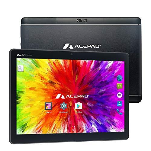 ACEPAD A121 (10.1') 3G Tablet PC, 2GB RAM, 64GB Speicher, Android 9.0 Pie, Dual-SIM, IPS HD 1280x800, Quad Core CPU, WiFi/WLAN/Bluetooth,...