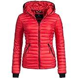 Navahoo overgangsjas dames gewatteerde jas Kimuk rood Gr. XL