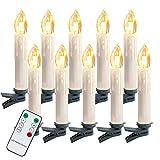 Hengda 20 LED Kerstkaarsen Draadloos, Warm Wit ...