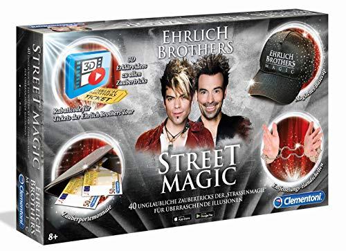Clementoni 59049 Ehrlich Brothers Street Magic, Zauberkasten für Kinder ab 8 Jahren, magisches Equipment für 40 verblüffende Zaubertricks, inkl. 3D...