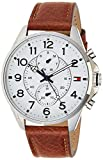 Tommy Hilfiger Mens Analog Quartz Watch with Leather Bracelet 1791274