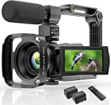4K camcorder video camera WIFI 48MP IR night vision vlogging camera, 16 x digital zoom video recorder with ...