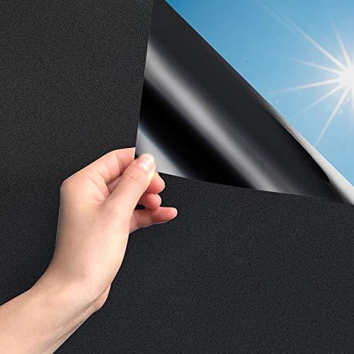 MARAPON® Fensterfolie selbsthaftend Blickdicht in schwarz [30x200 cm] inkl....