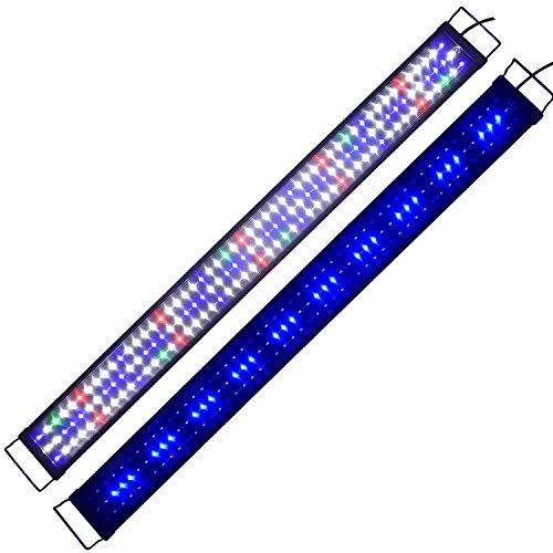 Aquarien Eco Tageslichtsimulation Aquarium LED Beleuchtung Lampe Aquariumleuchte Aufsetzleuchte Süßwasser Meerwasser Reef Coral Fish Wasserpflanzen...