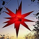 Außenstern rot - beleuchteter Stern ca. 55 cm...
