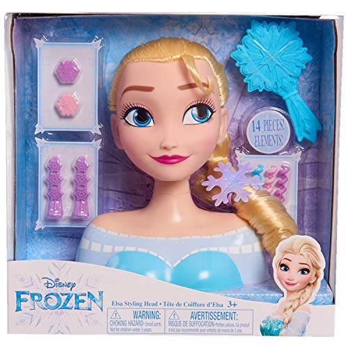 JP Disney Styling 12902 Die Eiskönigin ELSA Styling-Kopf, ohne Farbe