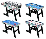 hlc 121.5 * 61 * 81.3 cm Collapsible 4 in 1 multifunctional table game - table football (table football) / table tennis / air hockey / billiard table
