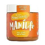 ManiLife - Deep Roast Smooth Peanut Butter - pindakaas gemaakt van krachtig geroosterde pinda's - 295 g