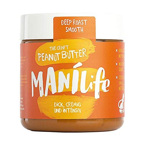 ManiLife - Deep Roast Smooth Peanut Butter - Erdnussbutter aus kräftig...
