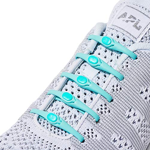 HICKIES Elastische Tie-Free Schuhbänder (2.0 Neu) - Minze