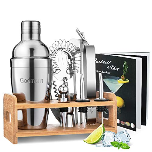 Cocktail Set, Godmorn Edelstahl Cocktail Shaker Set, 15 Teiliges Barkeeper Set...