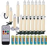 40/30/20 / 10x set LED kaarsen Kerstkaarsen RGB & warm wit ...