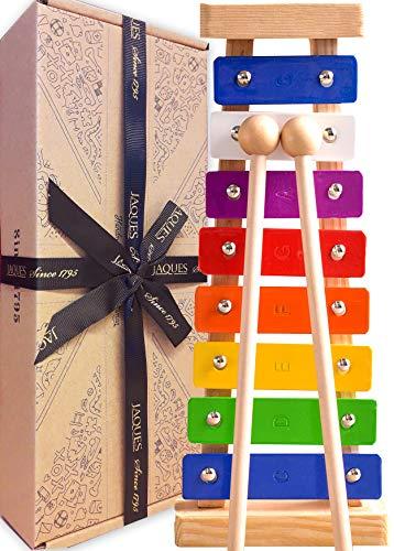 Jaques Von London Xylophon – Perfekt Spielzeug ab 1 2 3 Jahr Beinhaltet kostenlose Songblätter für Glockenspiel holzspielzeug - Quaility-Spiele...