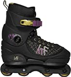 KRF The New urban Concept Unisex-Youth KRF Aggressive Pre Inlineskates, Negro / Morado, 37-38-40-42-46
