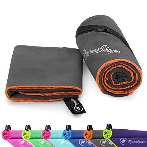 NirvanaShape ® Mikrofaser Handtücher | saugfähig, leicht, schnelltrocknend | Badehandtücher, Reisehandtücher, Sporthandtücher | Ideal für...
