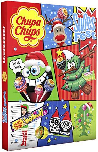 Chupa Chups Adventskalender Süßes Fest, 24 Lutscher- und...