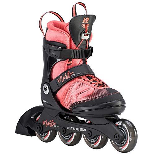 K2 Mädchen Inline Skates MARLEE PRO - Schwarz-Rosa - L (35-40 EU; 3-7 UK; 4-8...