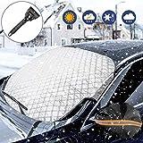 WisFox Frontscheibenabdeckung,Auto Windschutzscheibe Abdeckung, Wasserdicht und...