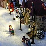 Gärtner Pötschke Miniatur-Weihnachtsdorf LED-Straßenlaternen Colonia, 4er-Set