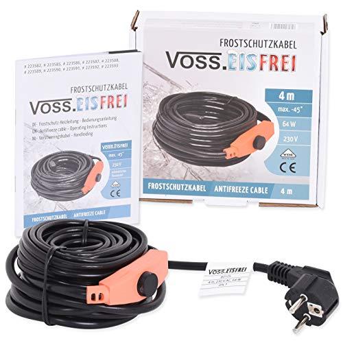 4m Frostschutz Heizkabel mit Knopf-Thermostat VOSS.eisfrei, 230V, Heizleitung...