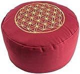 Berk YO-21-RO Meditations-Zubehör - Blume des Lebens Meditationskissen, rot