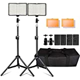 LED Video Light, 160 Pieces Dimmable LED Camera Light Panel and 79 'Adjustable Light Stand for ...