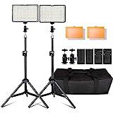 LED Video Licht, 160 Stück Dimmable LED Kamera Licht Panel und 79'...