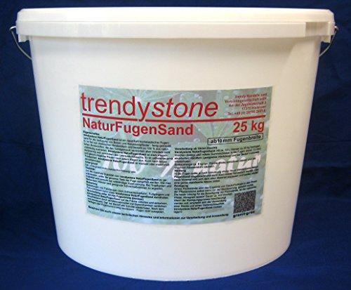 trendystone NaturFugensand 25 kg basalt-anthrazit - selbstreparierend - OHNE chemische Zusatzstoffe - wasserdurchlässig