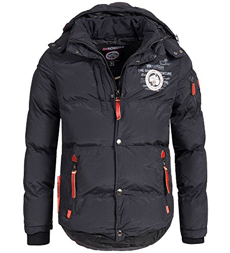 Geographical Norway Herren Winter Steppjacke Parka Verveine Kapuze black XL